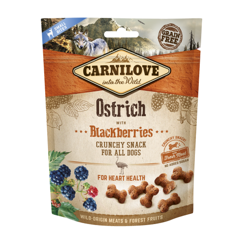 Carnilove® Snack Fresh & Crunchy Ostrich with Blackberries