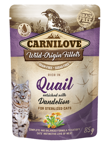 Carnilove® Pouches Quail enriched with Dandelion