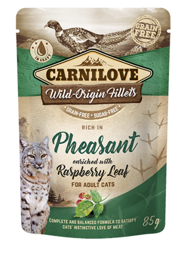 Carnilove® Pouches Pheasant enriched with Raspberry Leaf