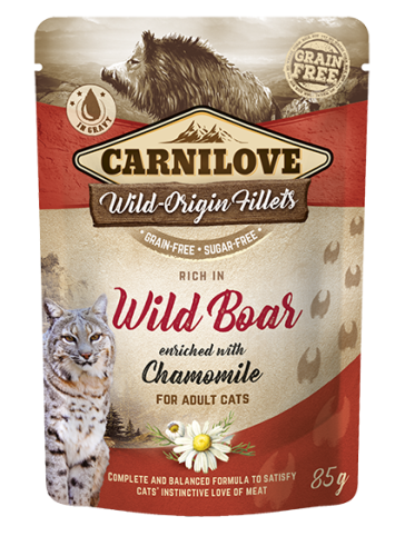 Carnilove® Pouches Wild Boar enriched with Chamomile