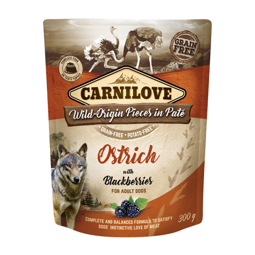 Carnilove® Pouches Ostrich with Blackberries