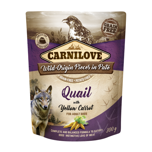 Carnilove® Pouches Quail with Yellow Carrot