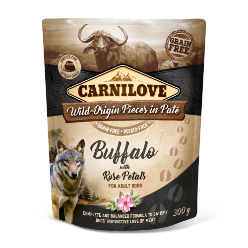 Carnilove® Pouches Buffalo with Rose Petals